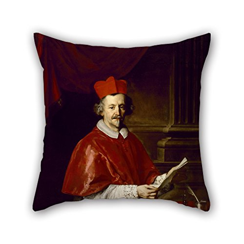 Slimmingpiggy Pillow Covers 16 X 16 Inches / 40 By 40 Cm(2 Sides) Nice Choice For Pub,club,bench,dinning Room,outdoor,kids Boys Oil Painting Jacob Ferdinand Voet - Cardinal Giulio Spinola - Cardinals Lounger