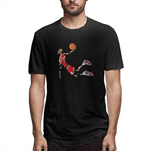 Basketball Clothing Micha-el JOR-dan Slam Dunk T-Shirt Black