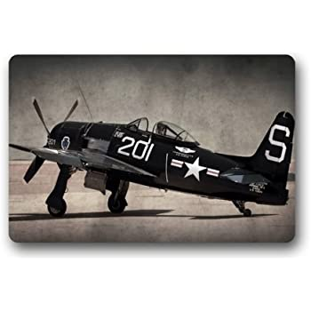 Amazon Com Door Mat Cool Vintage Airplane Military