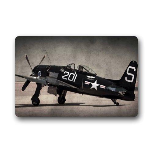 Door Mat Cool Vintage Airplane Military Aircraft Army Warplane Doormat Rug Indoor/Outdoor/Front Door/Bathroom Mats Floor Mat 23.6inch X ()