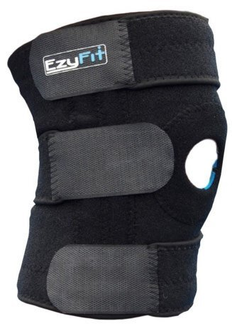 EzyFit Knee Brace Support Dual Stabilizers & Open Patella - Adjustable Breathable Neoprene for ACL Meniscus Tear Injury Recovery Comfort Fit - 3 Sizes