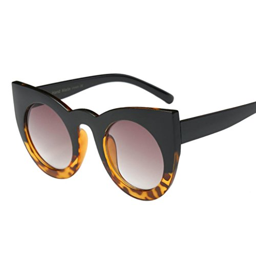(VESNIBA Cat Eye Sunglasses, Women Men Vintage Retro Glasses Unisex Fashion Aviator Mirror Lens Sunglasses (Free, C) )