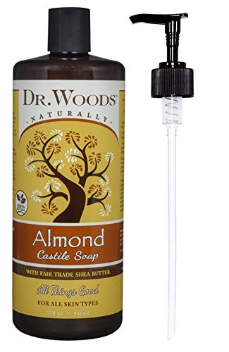 Dr. Woods Almond Castile Soap with Organic Shea Butter and Pump, 32 Ounce