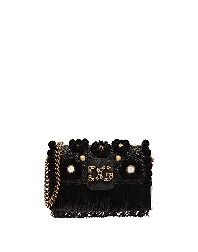 Dolce E Gabbana Women's Bb6393as9038b956 Black Leather Shoulder Bag by Dolce e Gabbana