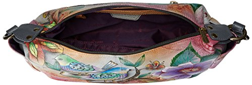 tasche Blissful dipinta West di East con Multicolore in a Blissful lusso Anuschka Birds laterali Birds Multicolore pelle 506 mano xcPfHScB6