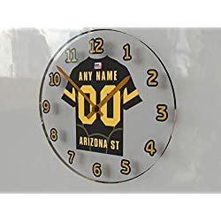 FanPlastic PAC-12 PACIFIC-12 Conference College Football - Personalized Wall Clocks - Size 12 X 12 X 2 - The Best A Fan CAN GET !!! (Arizona State)