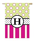 Double Sided Monogram H Evergreen Applique Banner Flag Review