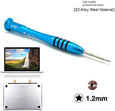 Magnetic Tip Precision Pentalobe Screwdriver P2 0.8mm Compatible with iPhone Rotary Cap Small Screwdriver Pentalobe 0.8mm Fits 5-point Pentalobe Screws S2 High Alloy Steel Head Anti Slip Grip