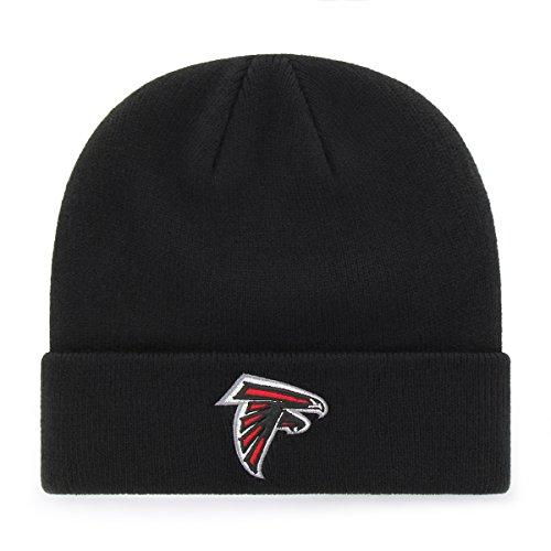 OTS NFL Atlanta Falcons Raised Cuff Knit Cap, Black, One Size
