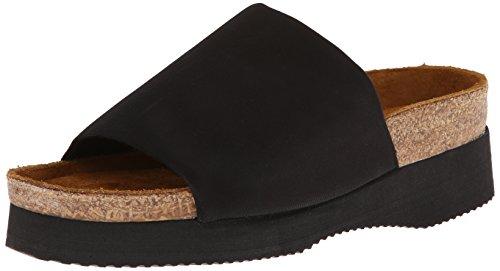 Naot Women's Tampa Platform Sandal,Black Stretch,39 EU/7.5-8 M US