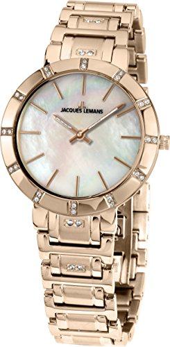 Jacques Lemans Milano 1-1825E 32mm Ion Plated Stainless Steel Case Ion Plated Stainless Steel Mineral Women's Watch