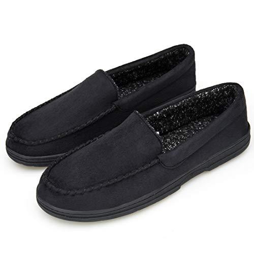 EAST LANDER Men's Memory Foam Moccasin SlipperSlip on Indoor/Outdoor Shoes - Form 1 M1