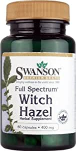 Swanson Full Spectrum Witch Hazel 400 mg 60 Caps