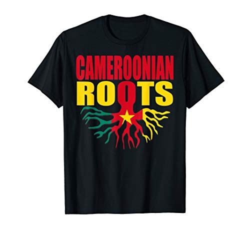 Flag Cameroon T-shirt - Storecastle: Cameroonian Roots Cameroon Flag Pride T-Shirt