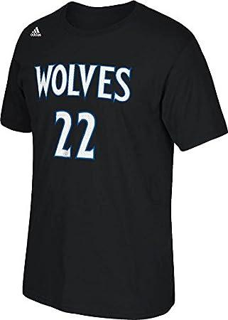 Adidas Andrew Wiggins NBA Minnesota Timberwolves Negro Reproductor Nombre y número del Equipo Jersey Camiseta para Hombre - A63193, Negro: Amazon.es: ...