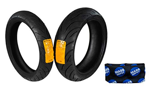 Continental Conti Motion Tire 120/70-17 180/55-17 With Keychain (120/70 ZR 17 180/55 ZR 17)