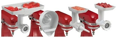 Fit Stand Mixers All Kitchenaid (KitchenAid KN12AP Stand Mixer Attachment Pack 3 with Food Grinder, Citrus Juicer and Sausage Stuffer)