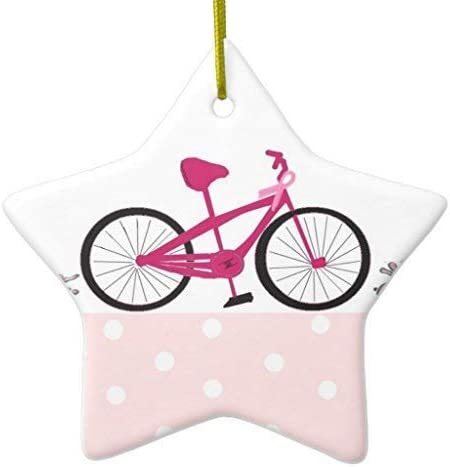 659ParkerRob® Adornos de Navidad, Bicicleta para una Cura - Rosa ...
