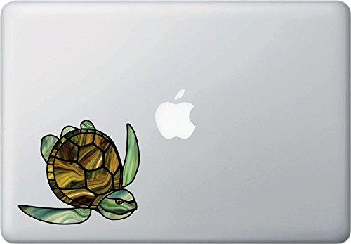 Yadda-Yadda Design Co. Honu Sea Turtle - Stained Glass Style Vinyl Decal for MacBook | Laptop | Indoor UseYYDC (Medium 4.5