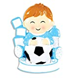 PERSONALIZED CHRISTMAS ORNAMENT KIT -FUTURE SOCCER STAR BOY KIT