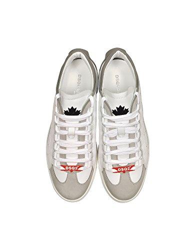Herren SNM0006141400011062 Sneakers Weiss DSQUARED2 Leder PBqwUUF