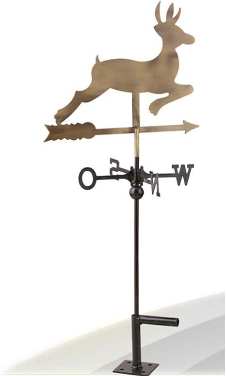 LF Buena dirección Veleta Sika de venado - Cobre Antiguo, Estilo rústico, Veleta de jardín, Soporte de Techo, decoración de Patio: Amazon.es: Deportes y aire libre