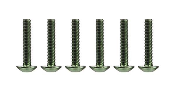 Rounded M5 25/mm Puig 0610/V Blister 6/Screws Green