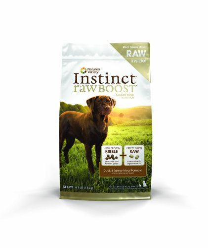 Instinct Raw Boost Grain Free Duck & Turkey Meal Formula Natural Dry Dog Food by Nature's Variety, 4.1 lb. (Natures Best Puppy Food)