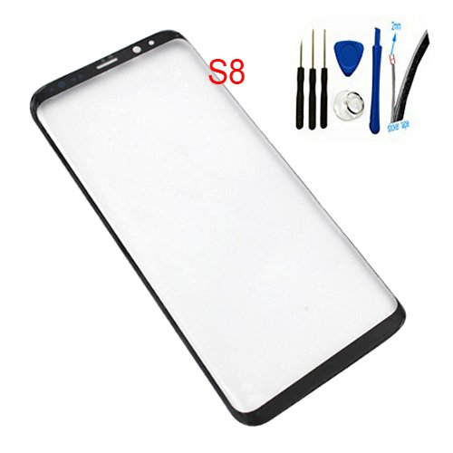 5.8inch Real Glass Front Screen Outer Lens replacement For Galaxy S8 SM-G950 G950A G950P G950T G950U G950V G950F G950FD G950W G950S/K/L G9500 All Carriers (Not LCD &Not digitizer) Black