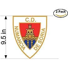 fan products of Club Deportivo Numancia de Soria Spain Soccer Football Club FC 2 Stickers Car Bumper Window Sticker Decal Huge 9.5 inches