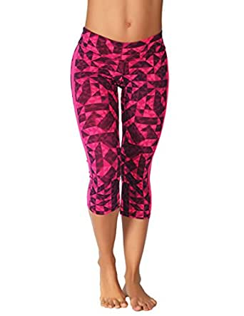 Protokolo Women's Sports Yoga Capri Pants 2747-1 S printed