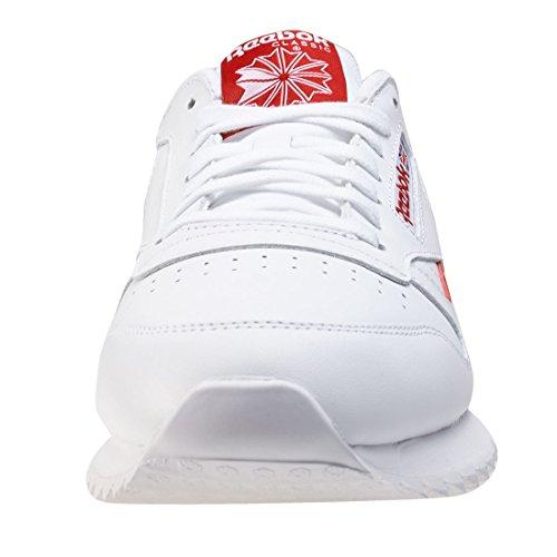 Reebok Herren Classic Leather Ripple Low BP Sneaker White Red