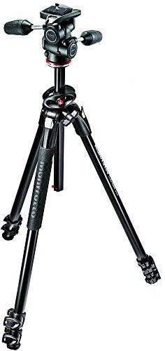 Manfrotto MK290DUA3-3WUS 290 Dual 3-Way Head Kit (Black) Dual Head Kit