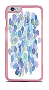 Blue Dots Water Color Pink Hardshell Case for iphone 6 4.7