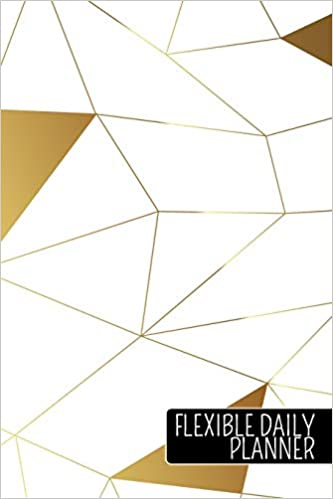 Amazon com: Flexible Daily Planner: White and Gold Pattern