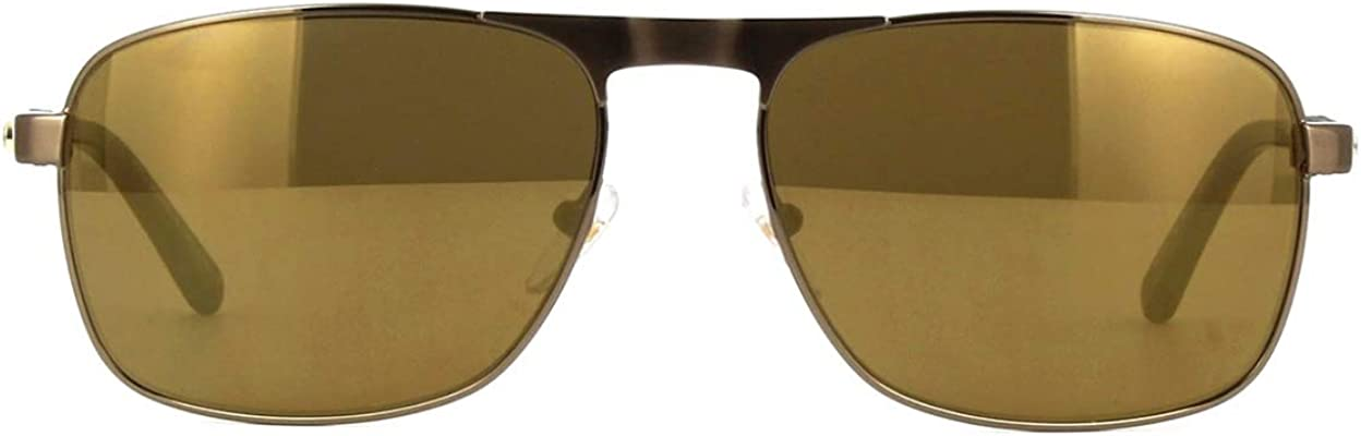 New Mont Blanc sunglasses MB655S 34G Bronze Brown Mirror Zeiss Lenses AUTHENTIC