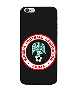 Colorking Football Nigeria 03 Black shell case cover for Apple iphone 6 Plus / 6s Plus