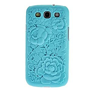 3D Rose Flower Carving Cover Case for Samsung Galaxy S3 I9300 --- COLOR:White