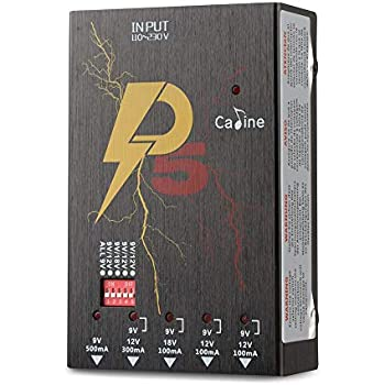 caline black p5 electric guitar effects pedal power supply 5 isolated dc outputs for. Black Bedroom Furniture Sets. Home Design Ideas