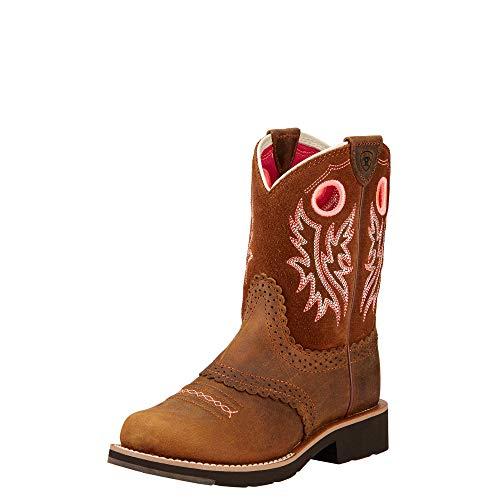 Kids' Fatbaby Cowgirl Western Boot (Little Kid/Big Kid), Powder Brown/Western Brown, 13 M US Little Kid (Pony Ladies W Footwear)