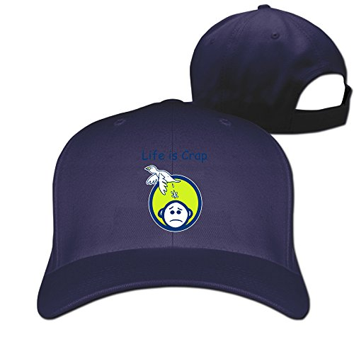 Life Is Crap Flat Baseball Hat Unisex ()