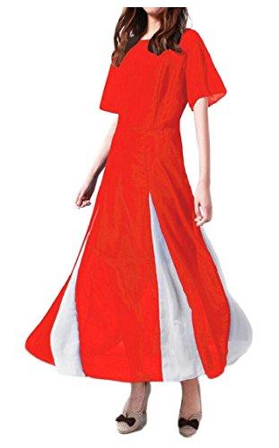 Di Manica Colore Partito 3 Vestito Del Blocchi Jaycargogo Chiffon Corte A Donna linea Un x1q6WwS0An