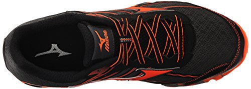 Mizuno Hombres Wave Hayate 3 Trail Runner Dark Shadow / Clownfish