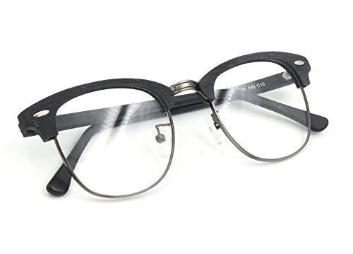 Herren / Damen Clubmaster Stil Brillenfassung Brillengestelle mit Mustergläser