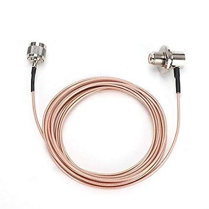 Shumo SC316 Alimentador 5M N Macho - Cable Coaxial de Antena MóVil ...
