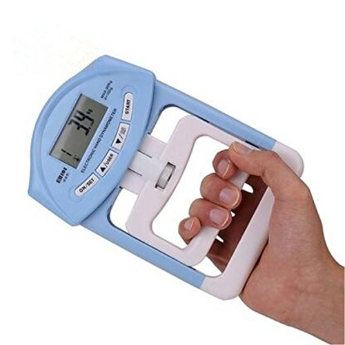 EONSMN Digital Hand Dynamometer, 200 Lbs/90 Kgs Strength Measurement Meter Auto Capturing Hand Grip (Blue) (Digital Hand Dynamometer)