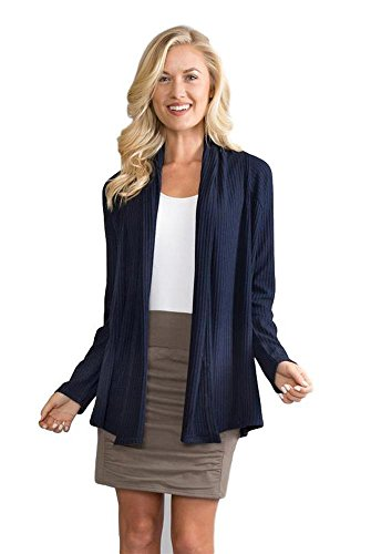 Simply Noelle That's A Wrap Ribbed Cardigan in Pearl 2XL