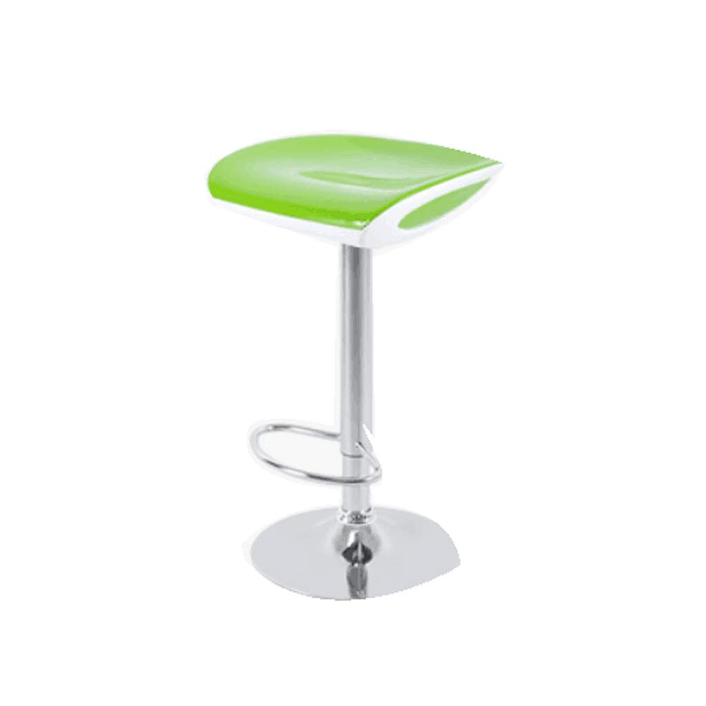 Green Barstool European bar Chair Home can be Raised and Lowered Leisure 5 colors (color   Pink)