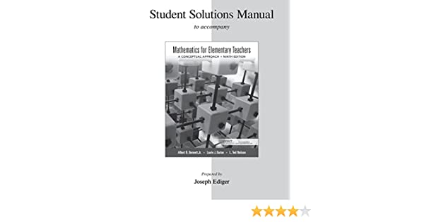 Amazon student solutions manual for mathematics for elementary amazon student solutions manual for mathematics for elementary teachers 9780077430900 albert bennett ted nelson laurie burton books fandeluxe Choice Image