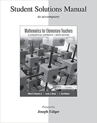 Amazon student solutions manual for mathematics for elementary student solutions manual for mathematics for elementary teachers 9th edition fandeluxe Choice Image